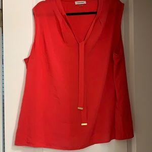 Calvin Klein Coral Sleeveless Shirt